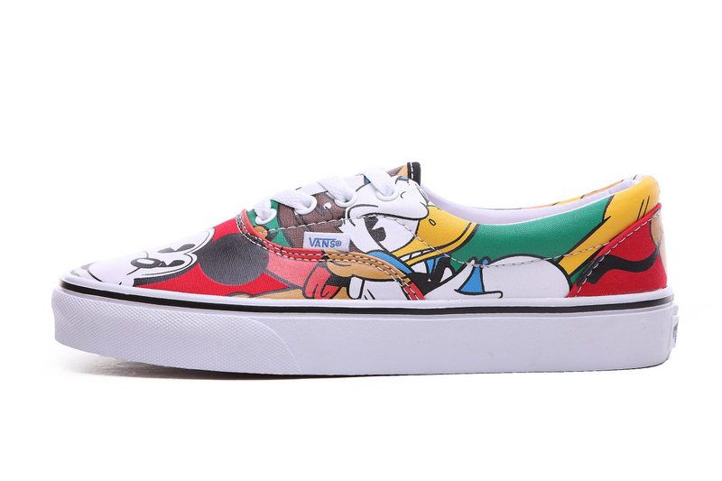 Disney X VANS Slip on Colorful Mickey Mouse Unisex shoes #Vans