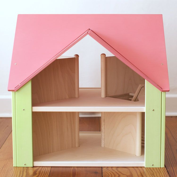 Custom Cottage with Pink Rose Roof and Honeydew Sides
