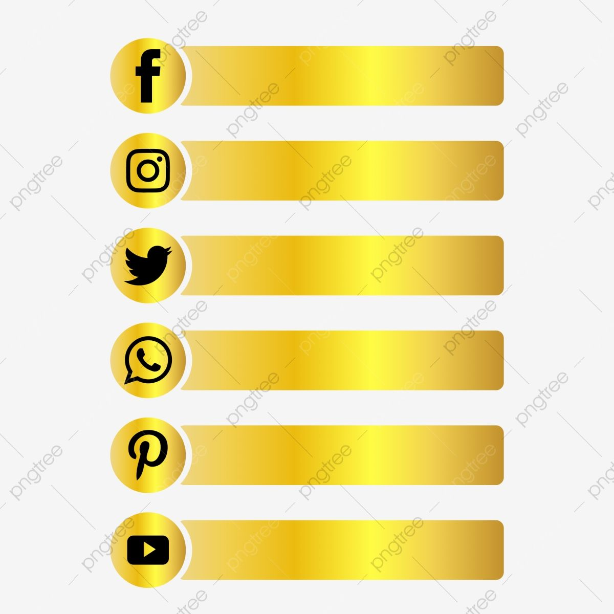Social Media Gold Button Following Luxury Lower Third Social Media Social Media Logo Social Media Icon Png And Vector With Transparent Background For Free Do Social Media Icons Vector Social Media