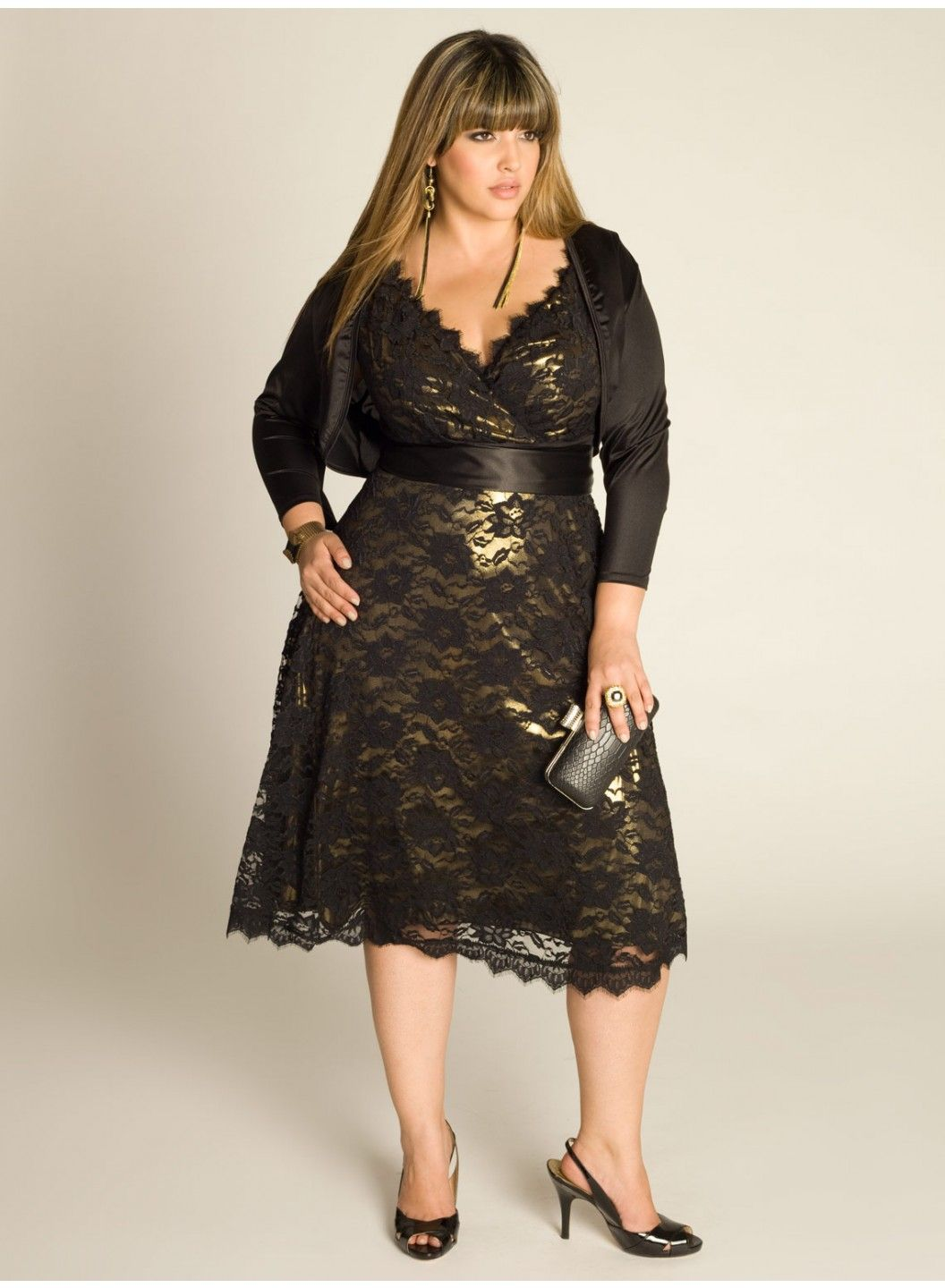 Leigh plus size lace dress in gold dresses by igigi all of the