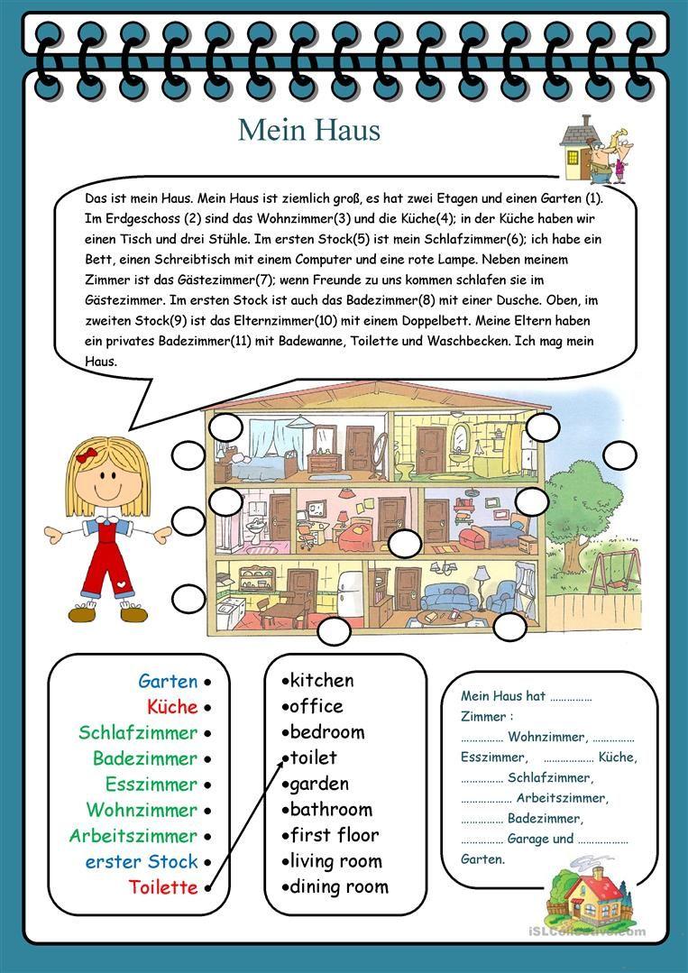 Mein Haus Deutsch Lernen Deutsch Und Abc Deutsch