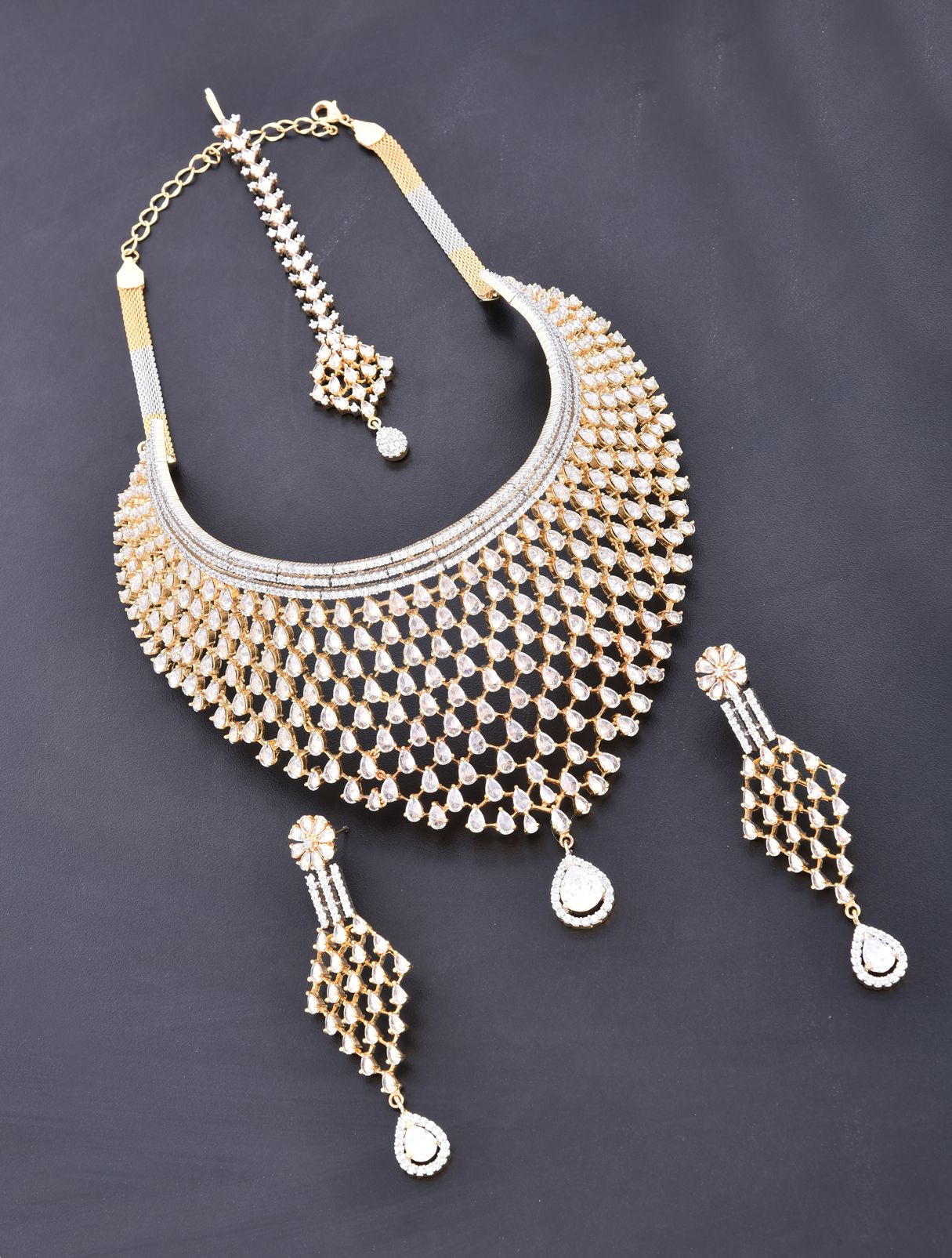 Heavy Choker Style Necklace Set