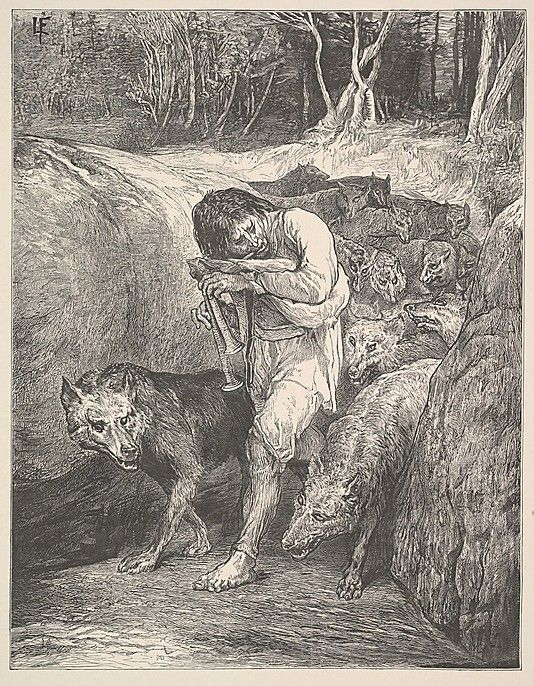 In Bavarian folklore a Wolfssegen was an apotropaic charm against wolves; conversely, a Wolfbann (Wolf-Bann) was a malevolent spell causing a wolf attack. The Wolfssegner, or more generally Segner, were mostly destitute elderly men who made a living by selling charms or incantations. They were mostly tolerated in the 16th century, but from the 1590s they began to be persecuted as witches. During the early 1600s, a number of Wolfssegner are tried and executed as werewolves.