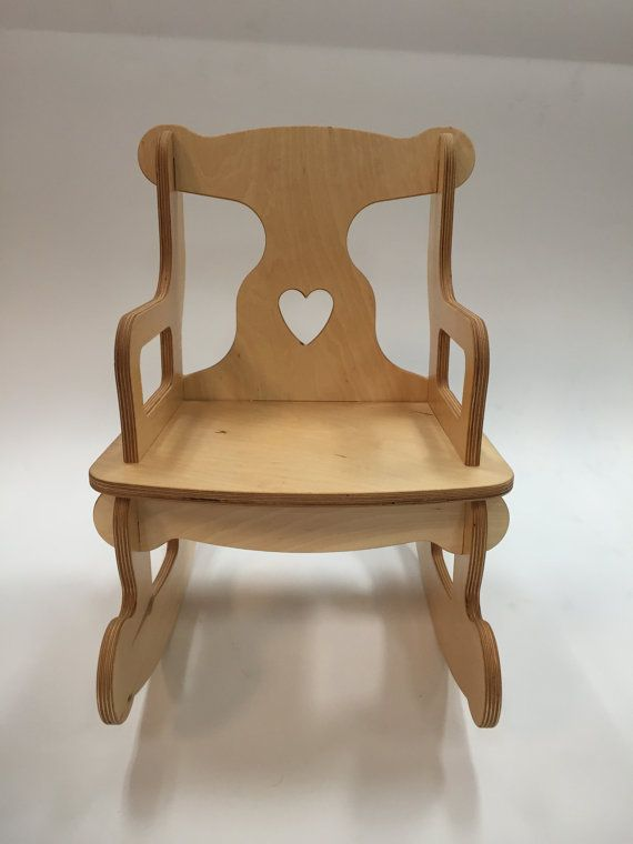 Medium Unfinished Puzzle Rocking Chair By EvergreenEnterprises Baltic Birch  Plywood, Rocking Chairs, Scroll Saw