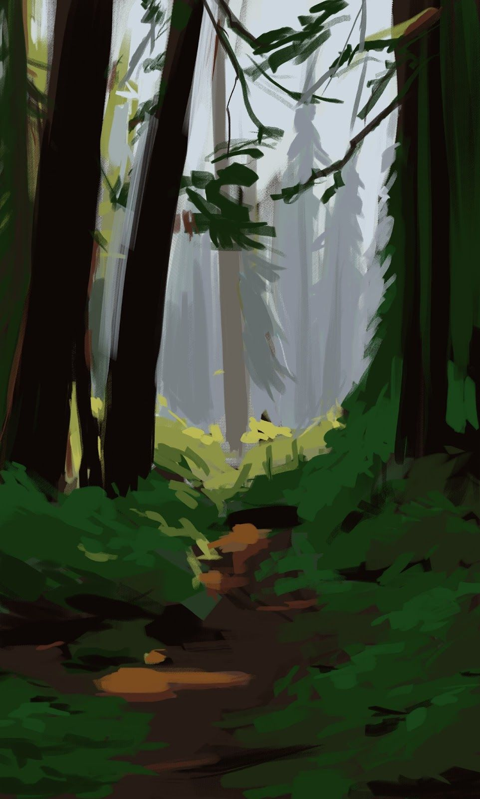 Forest Background Drawing : forest, background, drawing, Speedpainting_forest.jpg, (962×1600), Concept, Environment, Concept,, Forest, Background