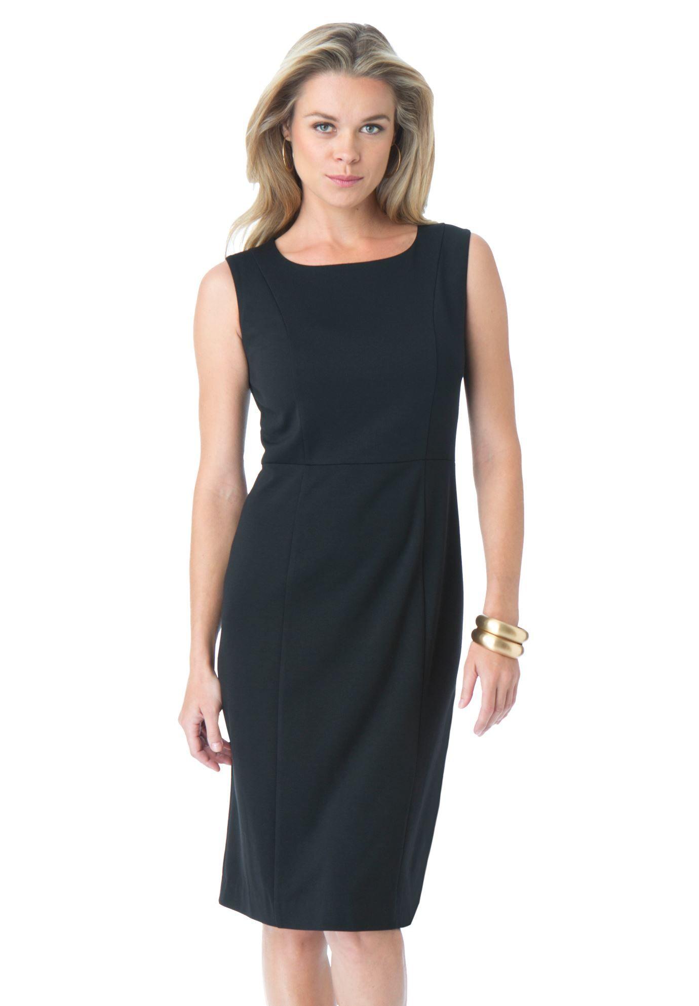 Sheath Ponte Dress Plus Size Deals We Love Roamans