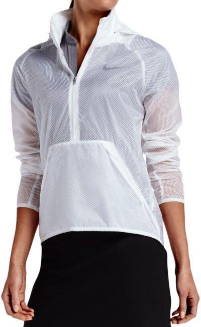 Nike Women S Hyperlite 1 2 Zip Trans Jacket Golf Galaxy Nike Women Golf Jackets Jackets