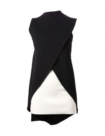 Rosie Assoulin Wrapped Monochrome Asymmetric Tank