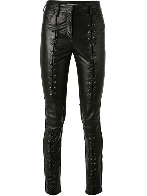 923fb34d41 Shop Pierre Balmain lace-up detail trousers in Verso from the world s best  independent boutiques at farfetch.com. Over 1000 designers from 300  boutiques in ...