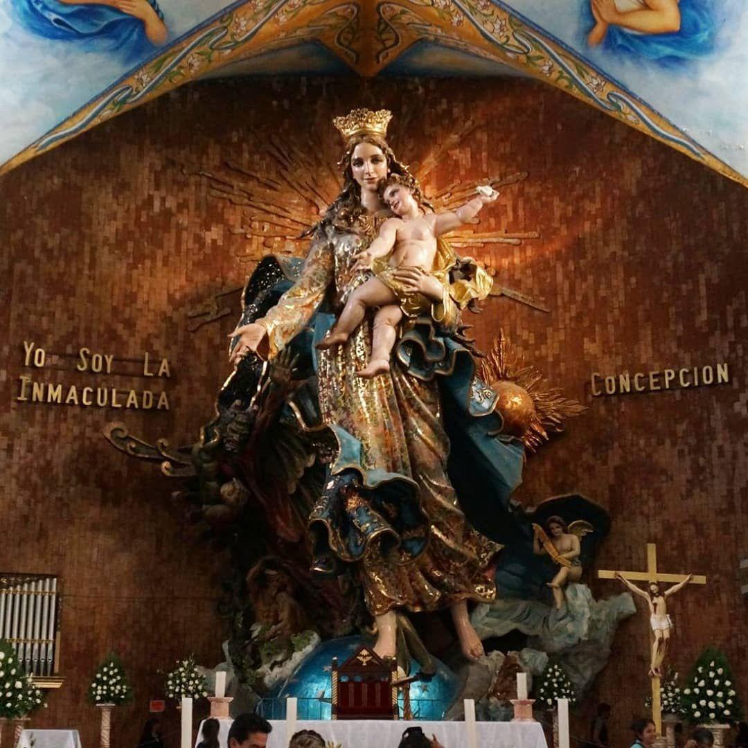 Al norte de Puebla se encuentra la figura de la Inmaculada Concepción de Chignahuapan.