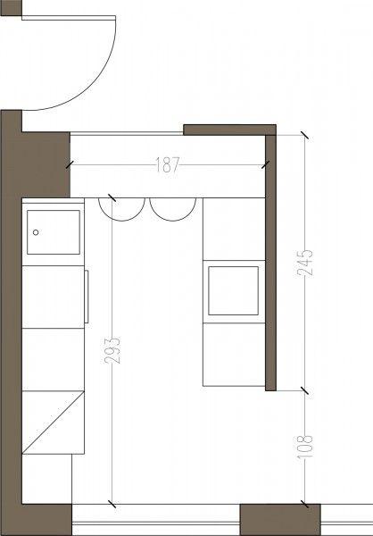 PIANTA-CON-MISURE | Cucine piccole, Cucine e Arredamento