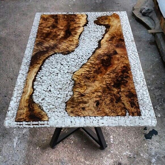 Epoxy wood table resin wood table pinterest wood for Diy river table