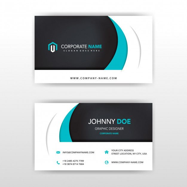 Download Modern Vector Double Sided Business Card Design For Free Business Card Template Word Double Sided Business Cards Business Card Template