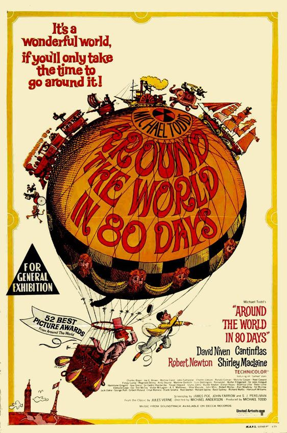 Around The World In Eighty Days 1956 Com Imagens Posteres De