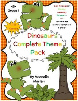dinosaurs theme pack center games literacy math science art worksheets 5 fabulous. Black Bedroom Furniture Sets. Home Design Ideas