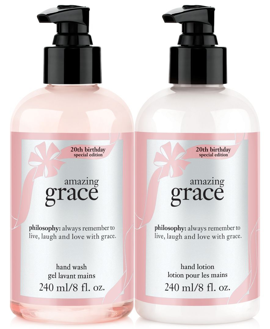 Philosophy Amazing Grace 20th Anniversary Hand Wash Lotion Duo Gifts Value Sets Beauty Philosophy Amazing Grace Amazing Grace Perfume Lotion Gift Sets