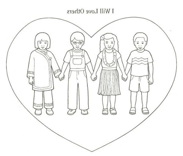 The Best love your neighbor coloring page - http://coloring.alifiah ...