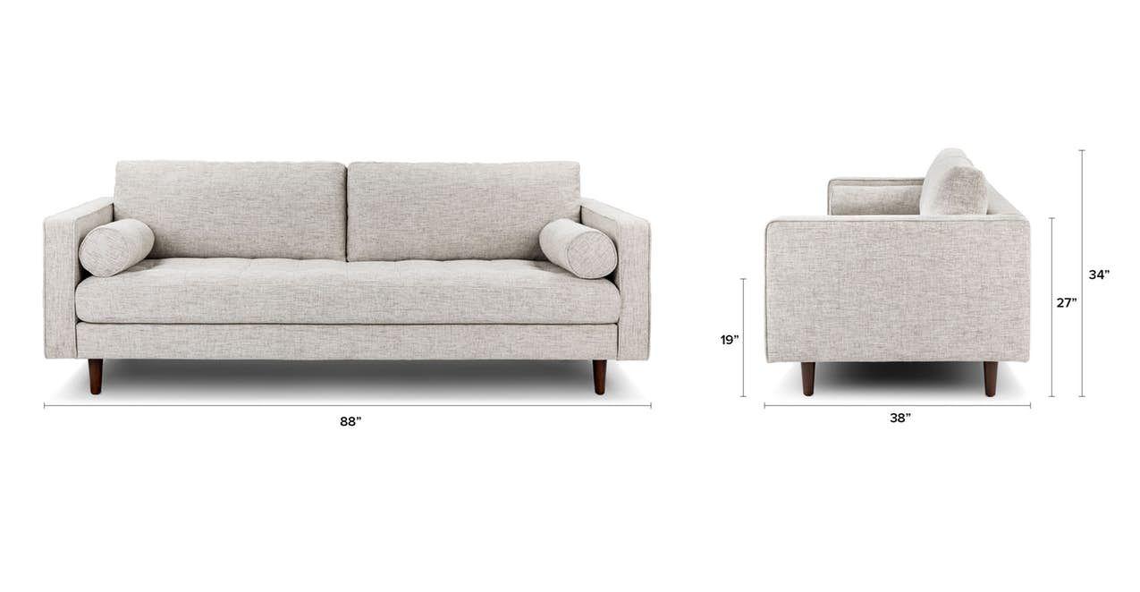 Sven Aqua Tweed Sofa In 2020 Sofa Tufted Sofa Mid Century Modern Sofa