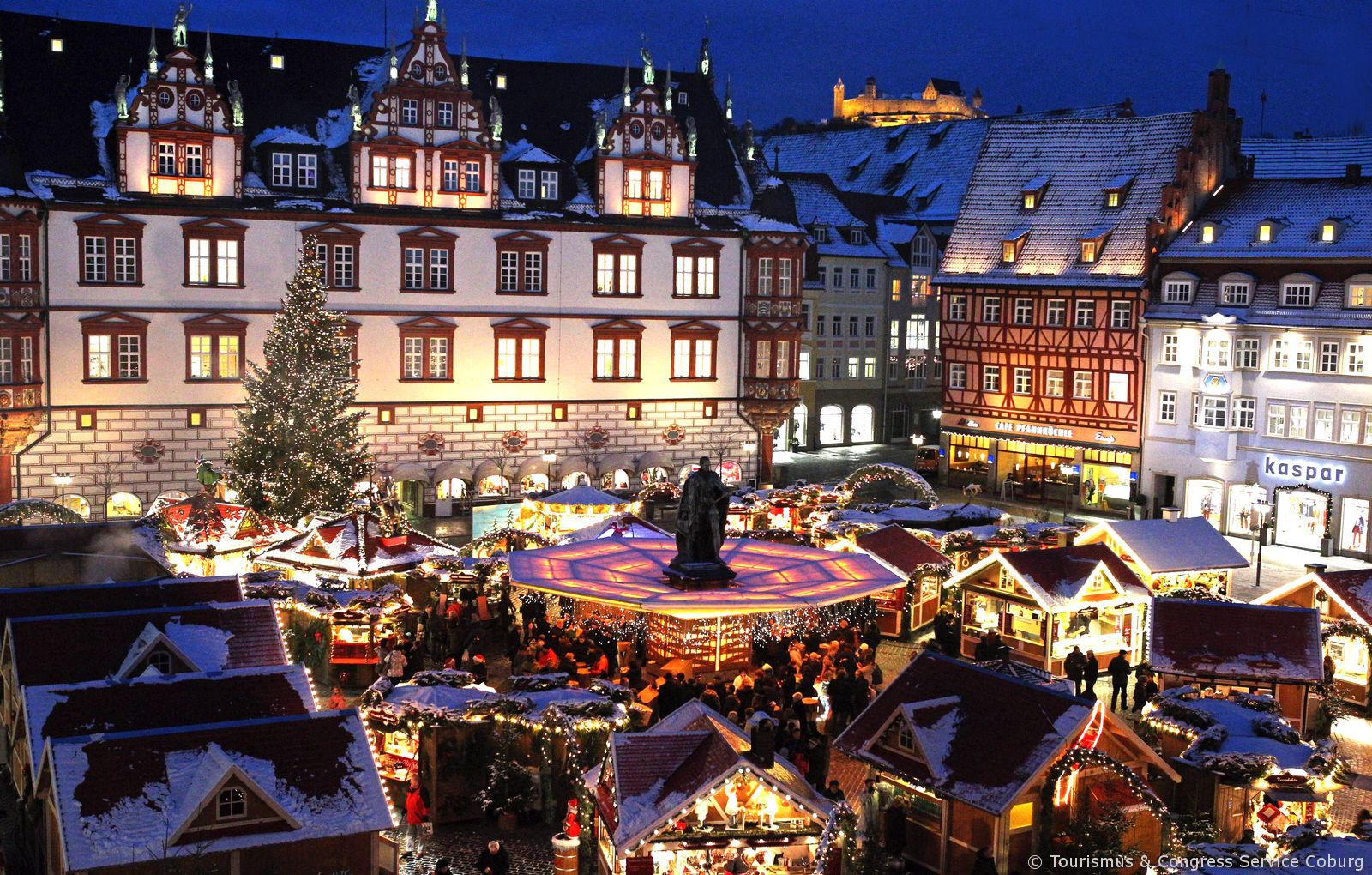 Christmas Village In Germany.The Romantic Christmas Village Of Coburg