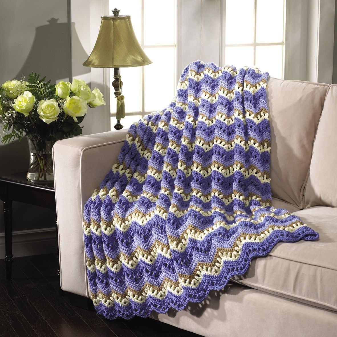 Get The Best of Mary Maxim Ripple Afghans download or paperback these great patterns to crochet