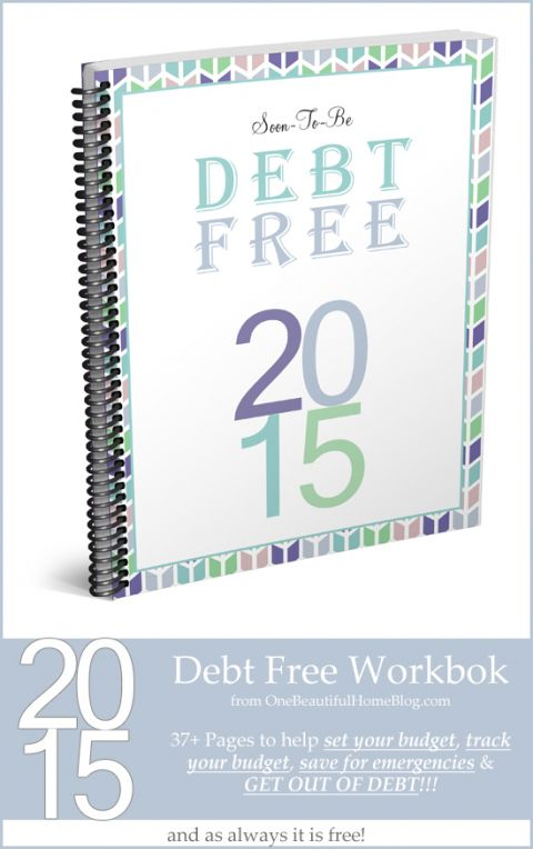 Soon To Be Debt Free - FREE debt workbook Debt, Budget sheets and