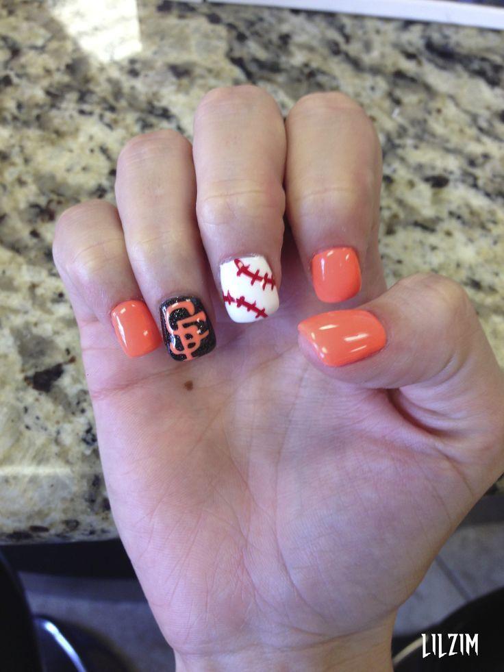 SF Giants Baseball: Nails Art, Sf Giant, Nails Ideas | Nail designs ...