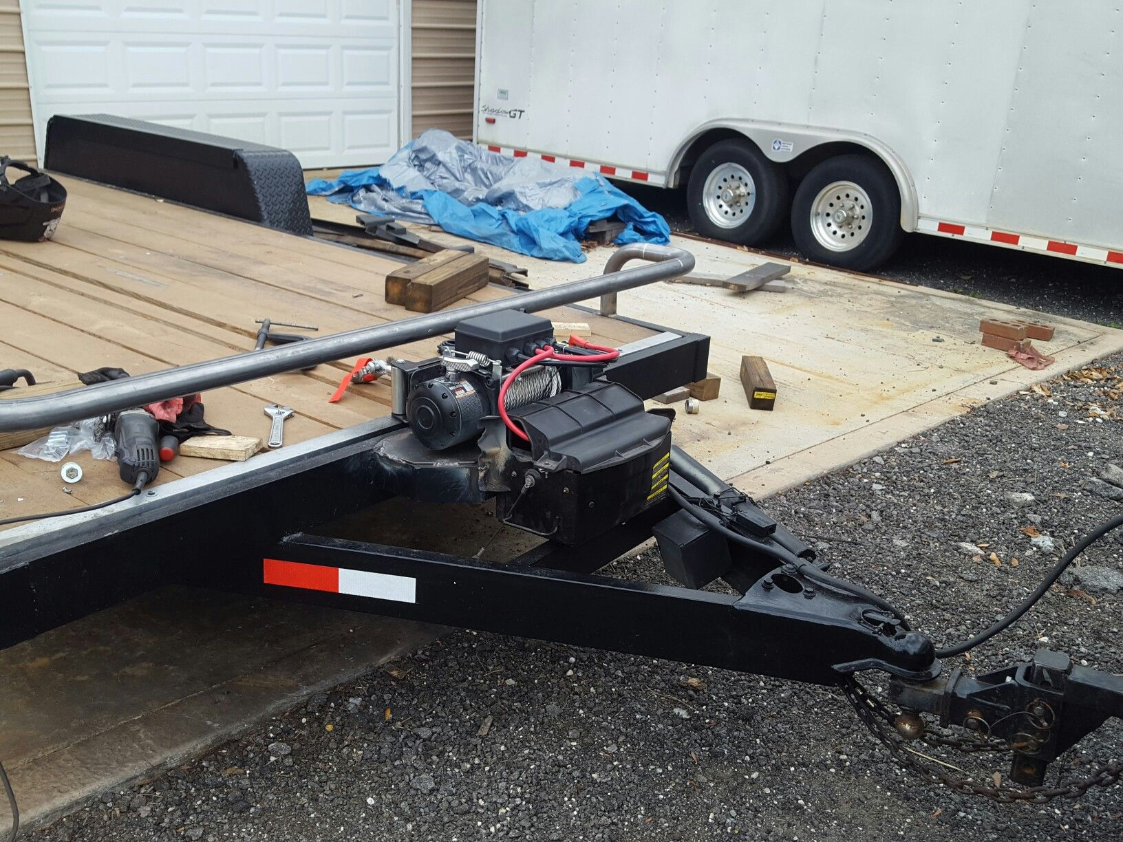 Pin By Shaun Merrill On Trailer Restoration Utility Trailer Flatbed Trailer Winch