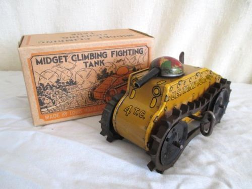 Marx Climbing Tank.  Wind up toy from 50s/ebay