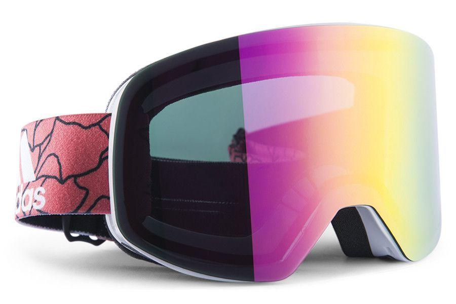 Adidas Backland White Shiny Purple Goggles, Purple
