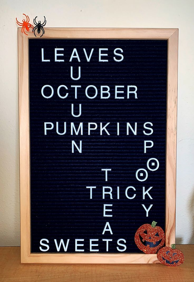 13++ Letter board accessories fall trends