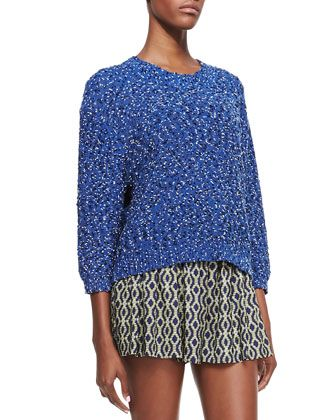 Marbled Textured Knit Sweater at CUSP.