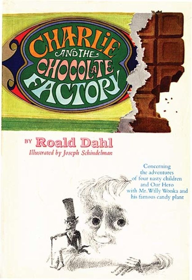 First Edition Cover 1964 Chocolate Factory Roald Dahl Book Cover