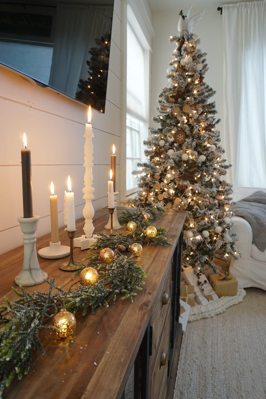 Neutral Christmas Living Room Christmas Pinterest