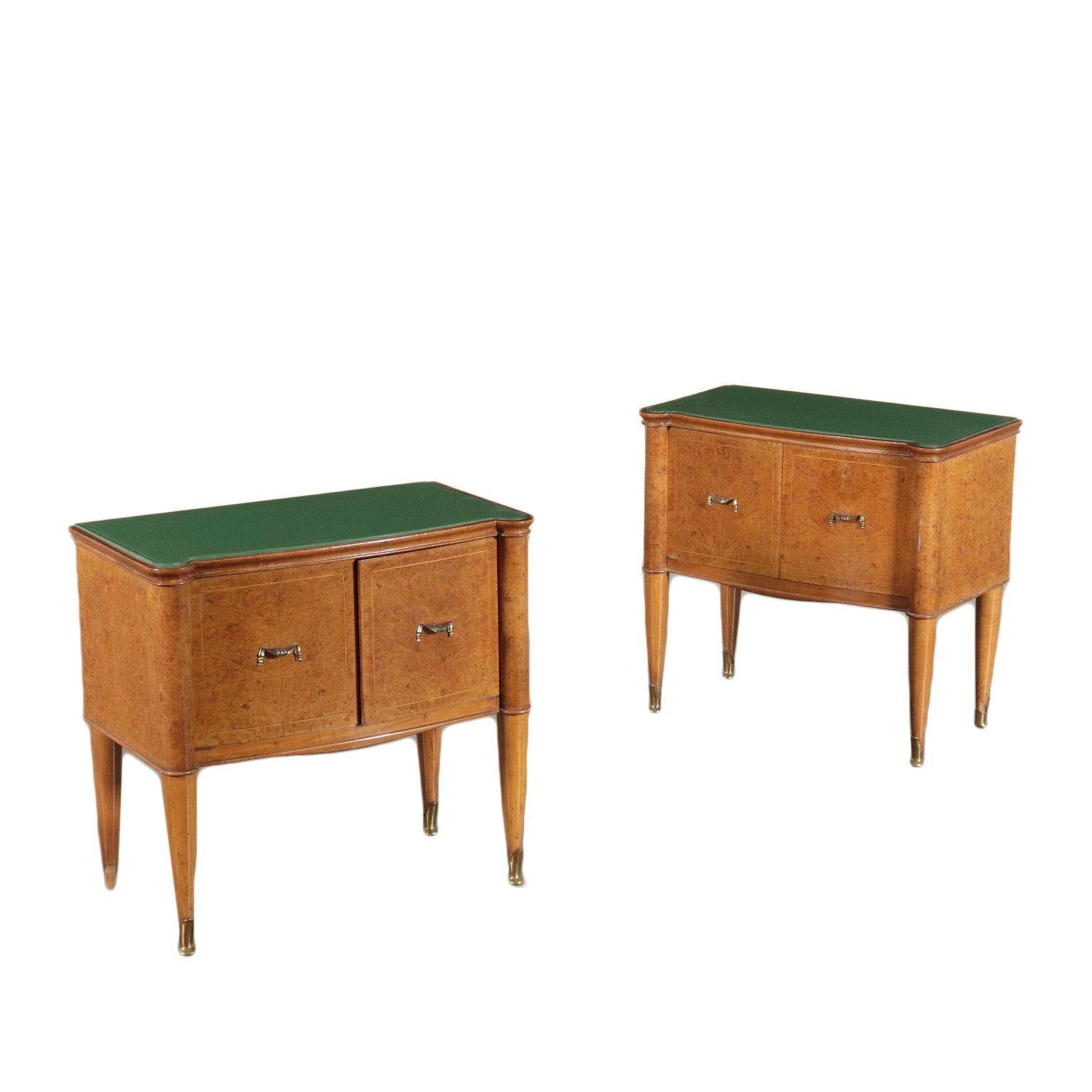 Vintage Bedside Tables Italy 1940 S 1950 S In 2020 Pair Of