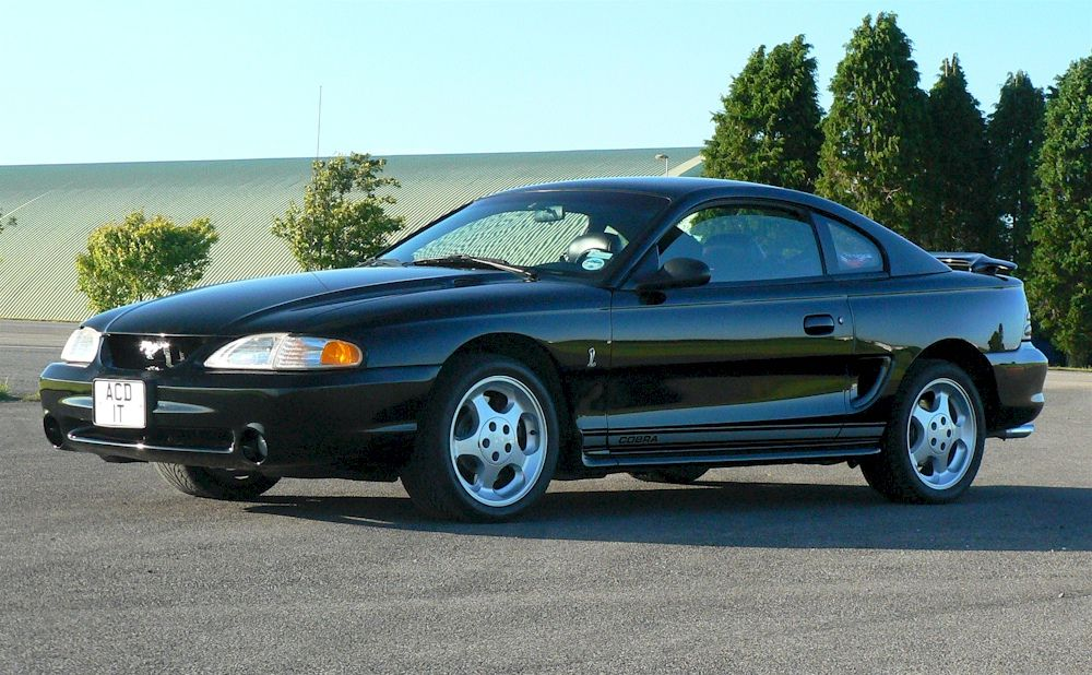 1995 Mustang Cobra Coupe Black Mustang Mustang Cobra Coupe