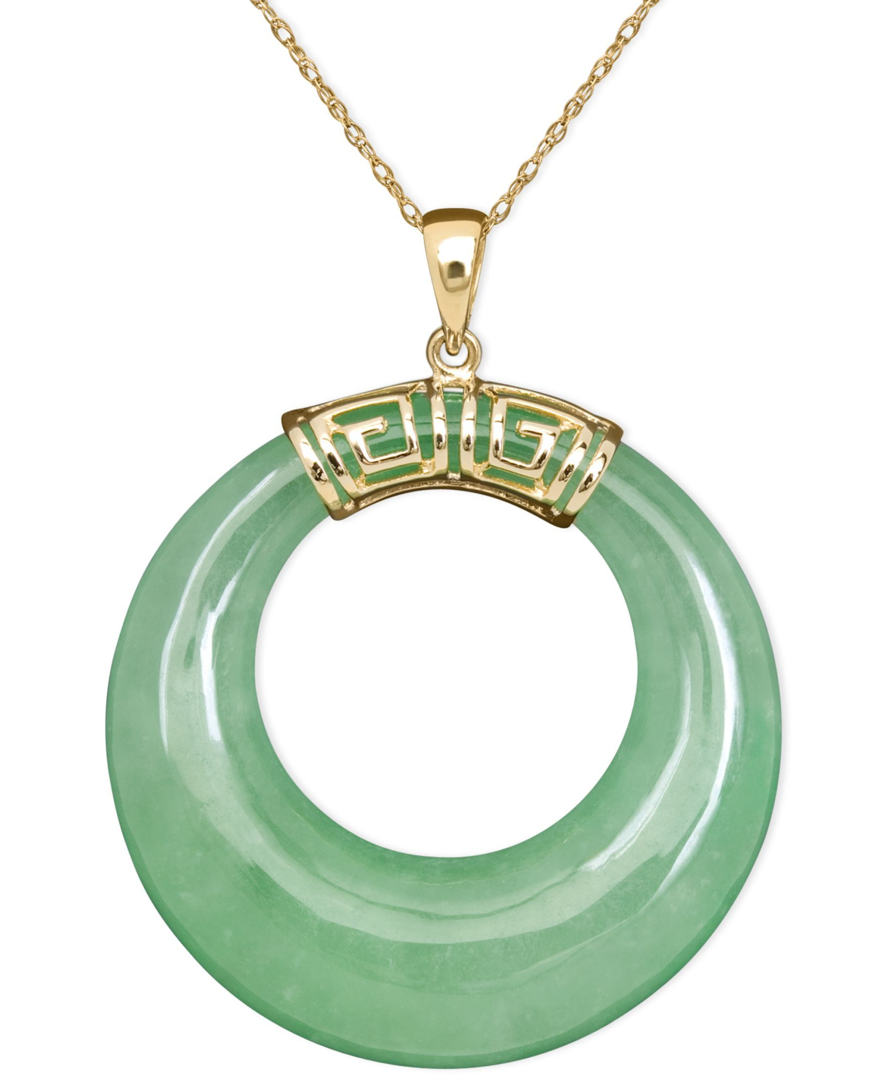 10k gold necklace jade circle pendant products pinterest gold 10k gold necklace jade circle pendant mozeypictures Image collections