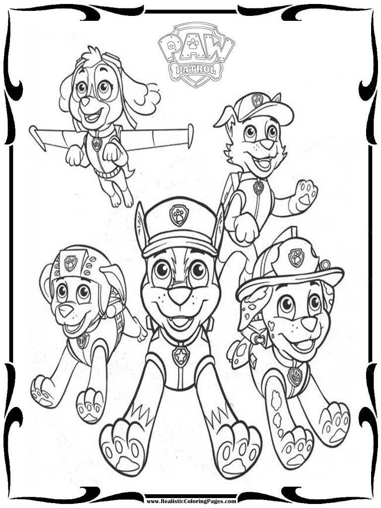 Paw Patrol Coloring Pages Paw Patrol Printable Coloring