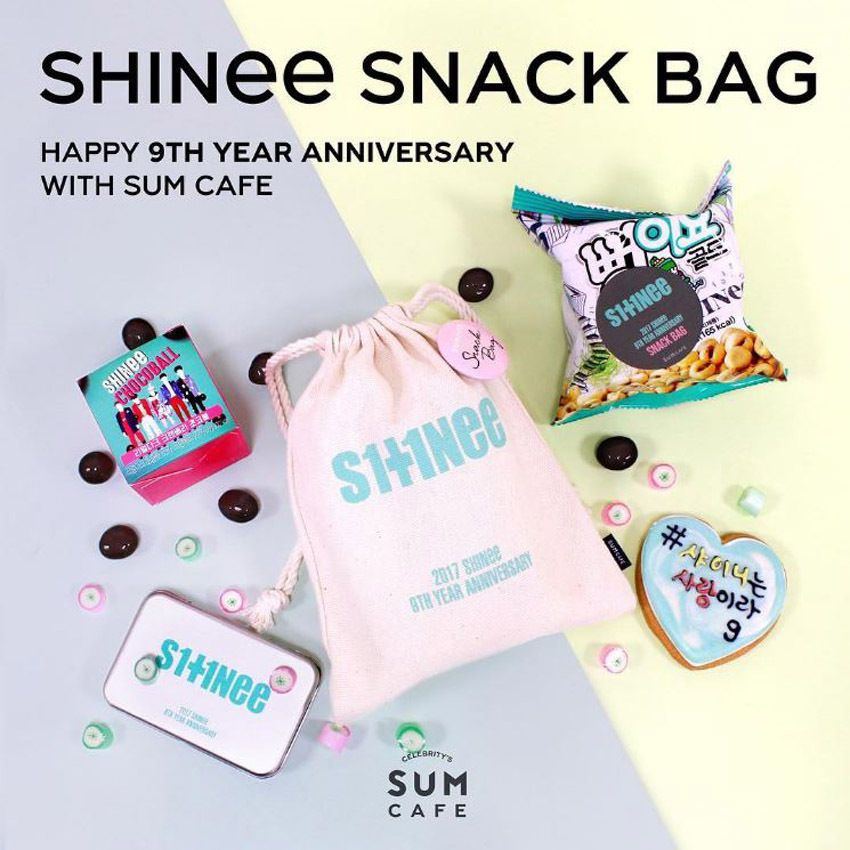 SM TOWN SUM SHINee Happy 9th Year Anniversary Limited Snack Bag (3ea  Photocards) a6497040e769