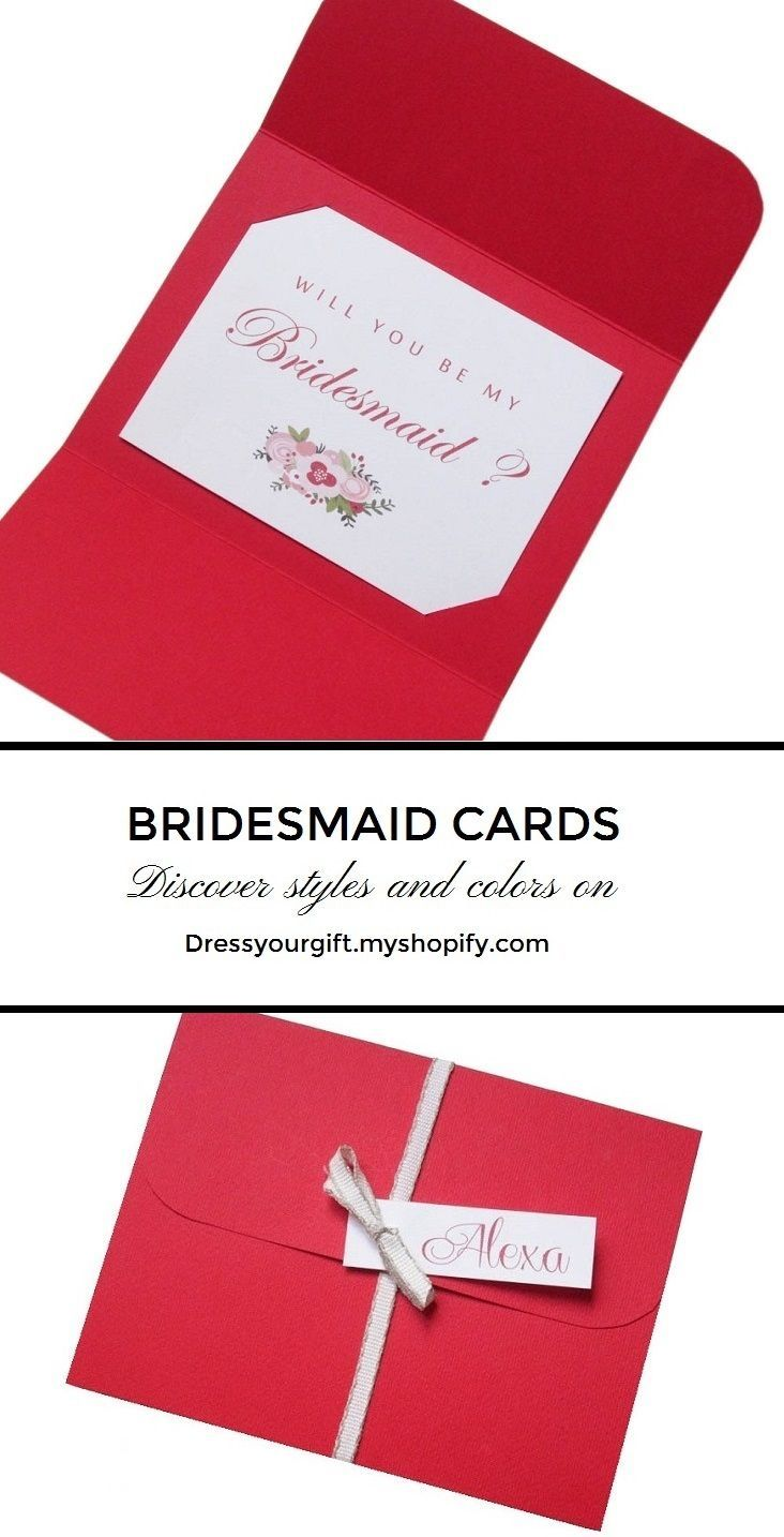 Red Bridal Shower invitations, Bridal Shower cards handmade, Maid of ...