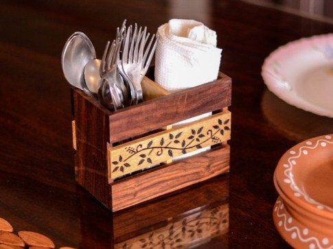 Amazing Stationery Holder Kitchen Knick Knacks, Floral Design Cutlery  Utensils Organiser Home Decor Kitchen