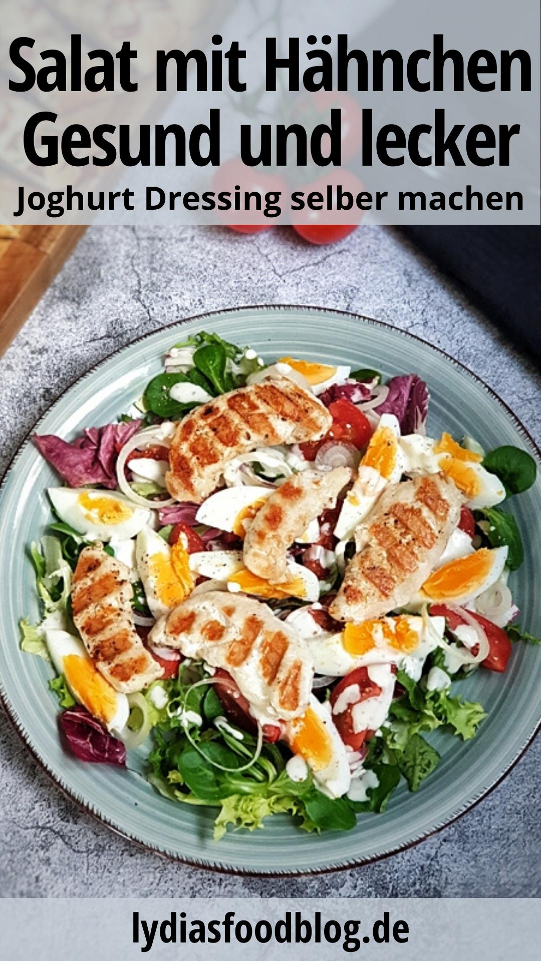 Frischer Salat mit Joghurt Dressing, Rezept