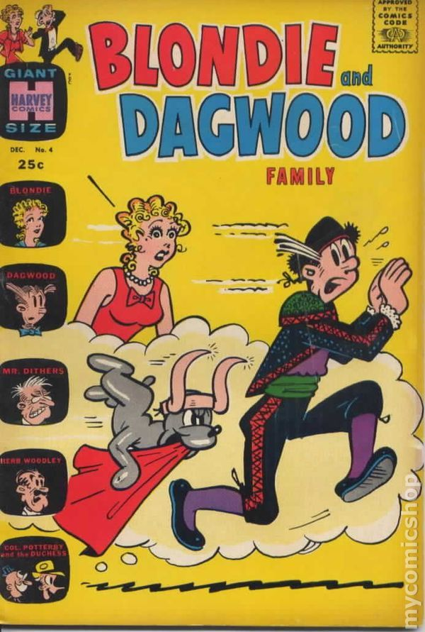 Blondie and Dagwood Family #4 | Comics I loved as a kid ...