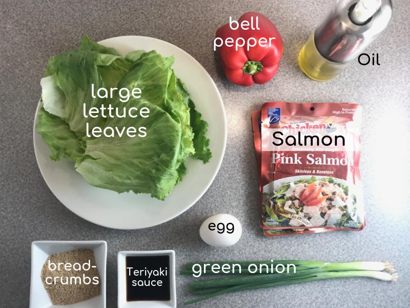 Teriyaki Salmon Lettuce Wraps #teriyakisalmon Teriyaki Salmon Lettuce Wraps - Meal Planning Mommies #teriyakisalmon