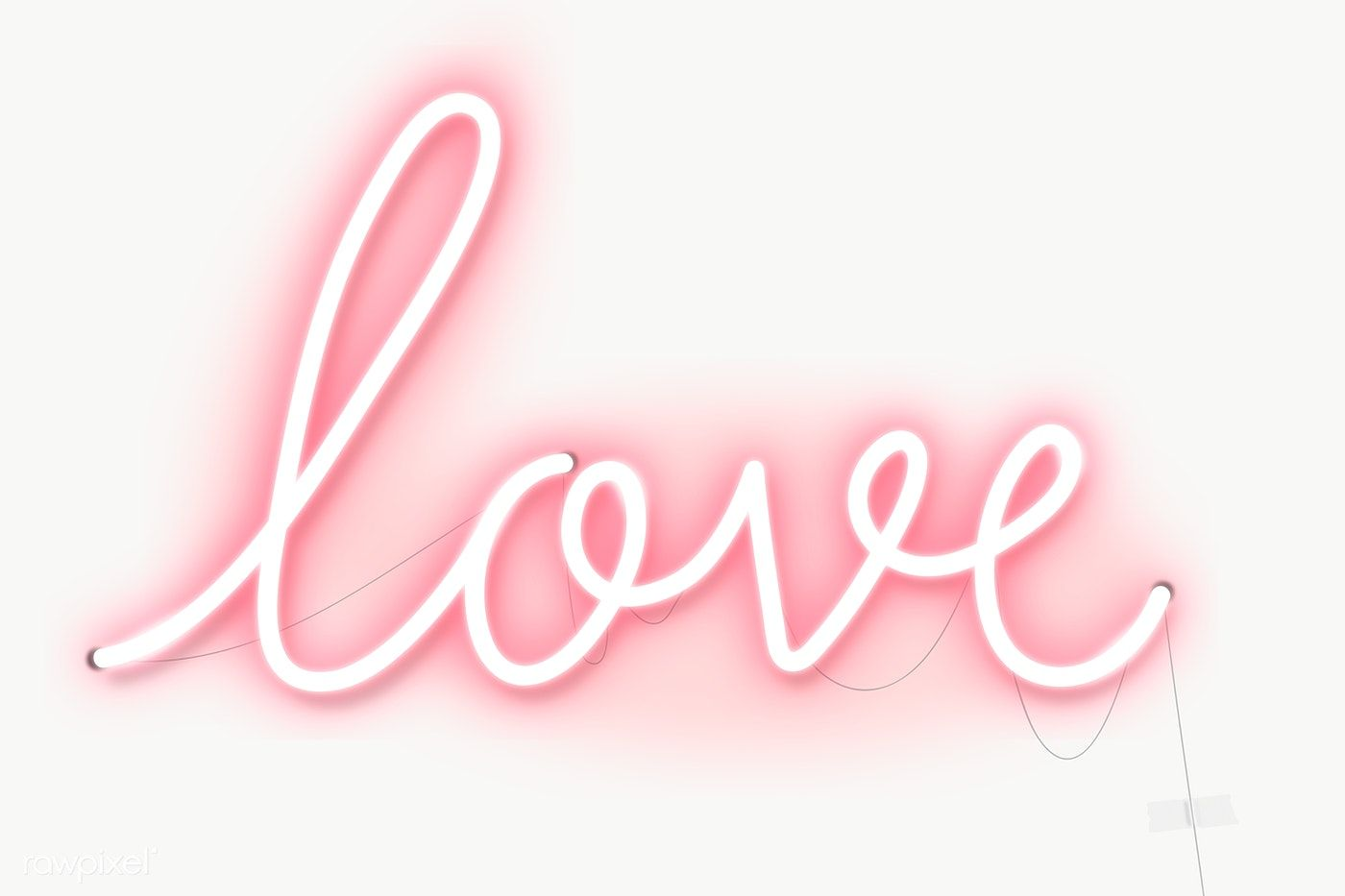 Neon Love Sign Design Resource Transparent Png Free Image By Rawpixel Com Marinemynt Neon Typography Neon Sign Design