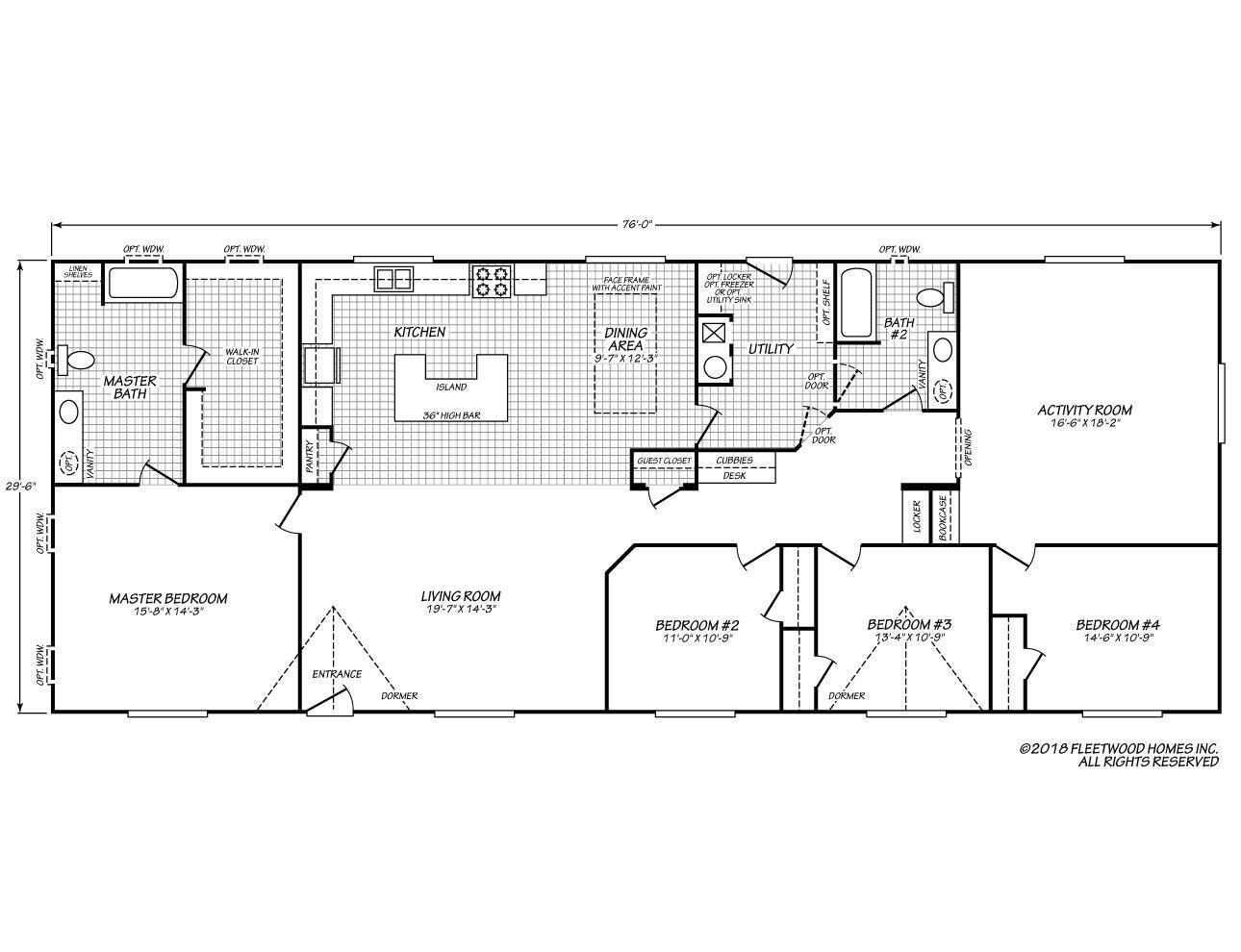 Fleetwood Homes Model WC 10W   Mobile home floor plans ...