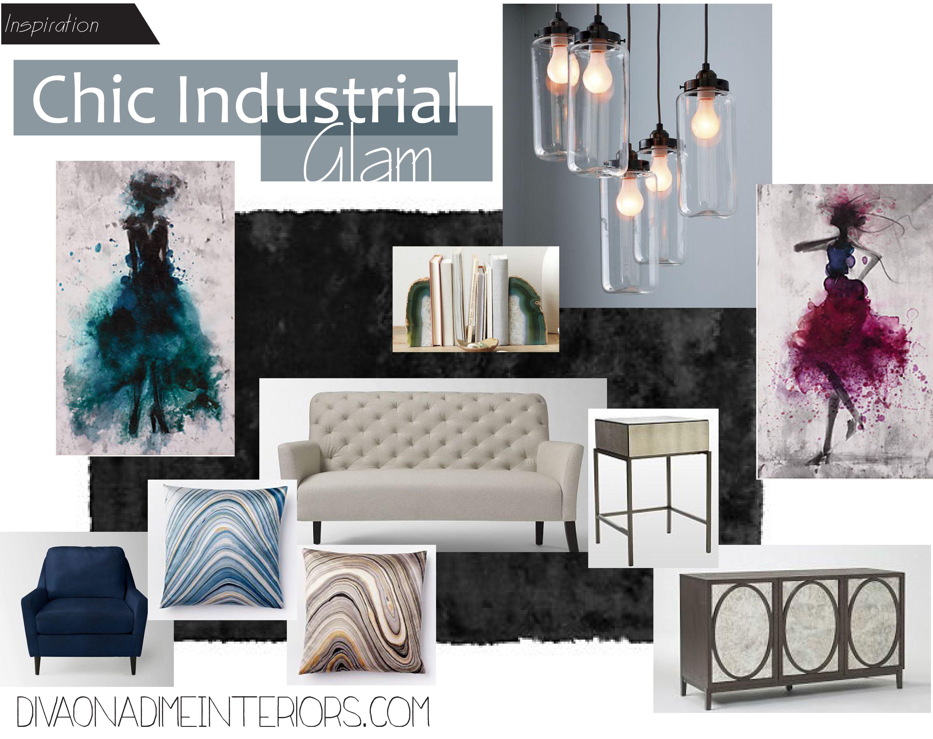 Inspiration Industrial Trendy Living Room Diva On Dime Interiors
