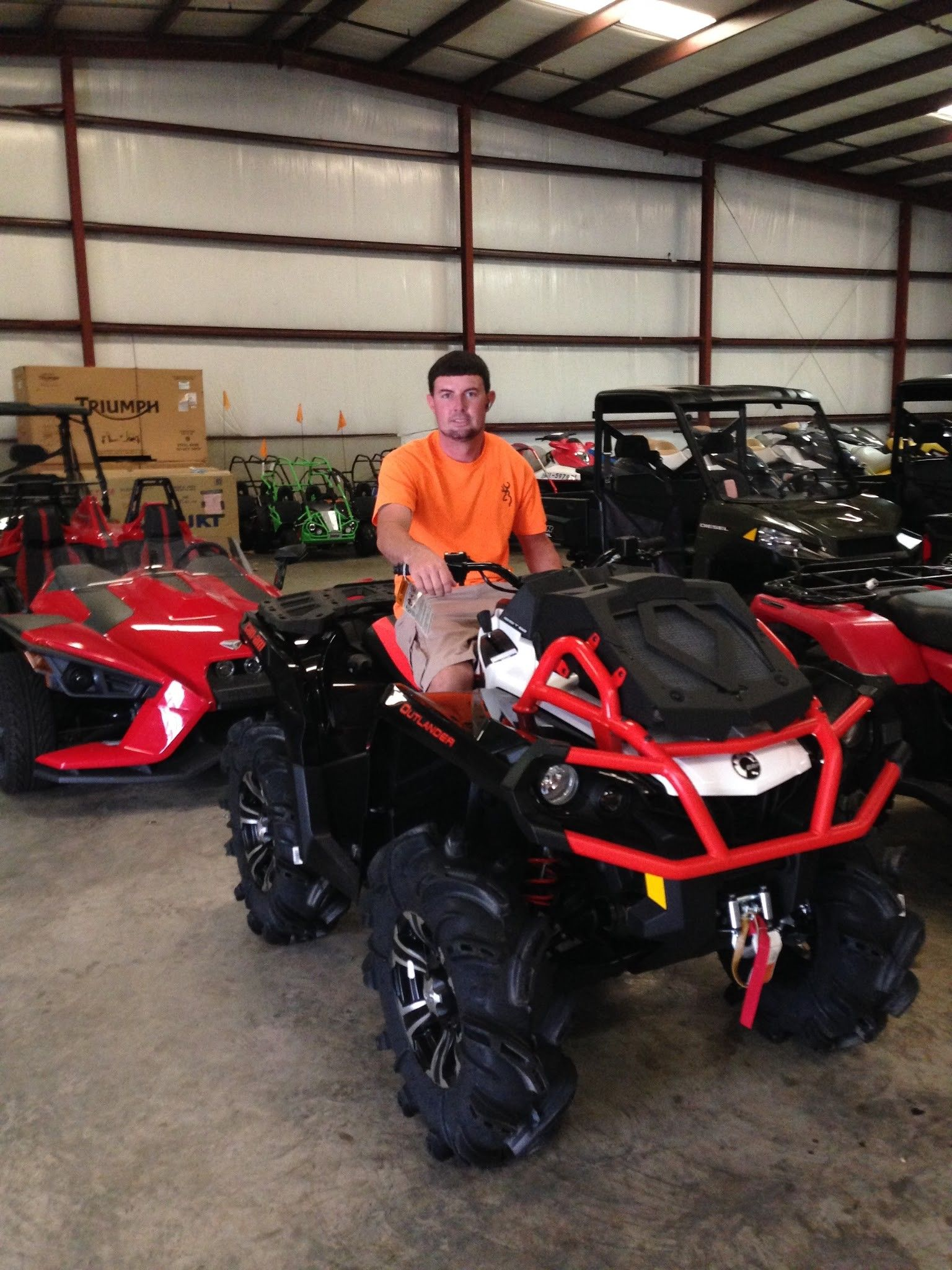 Thanks to Ed Lamparski from Bush LA for ting a 2016 Can Am