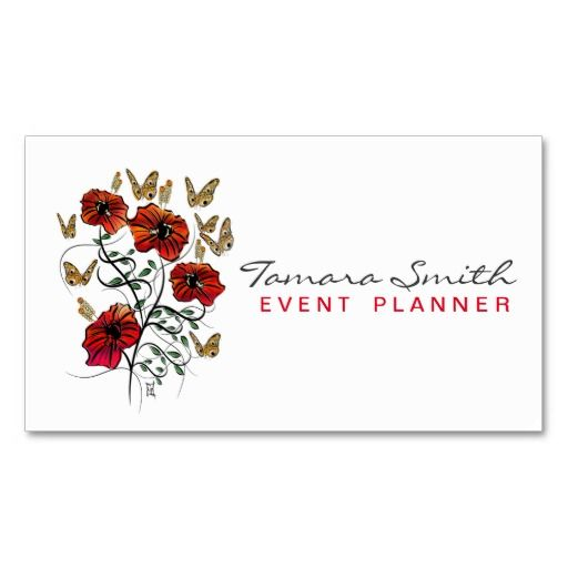Wonderful Calligraphic Event Planner Business Card Template