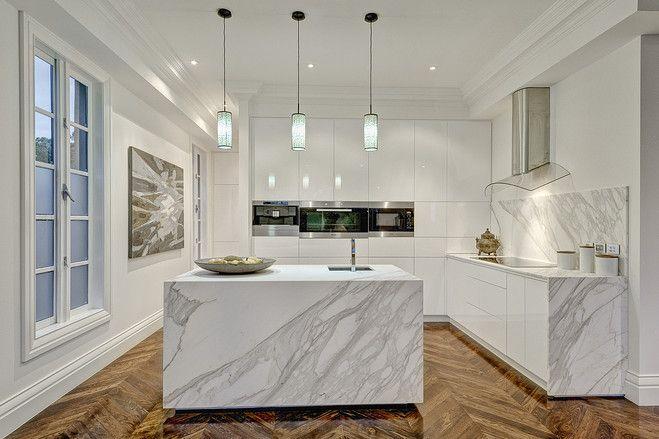 A Modern Take On Georgian Architecture White Modern Kitchen