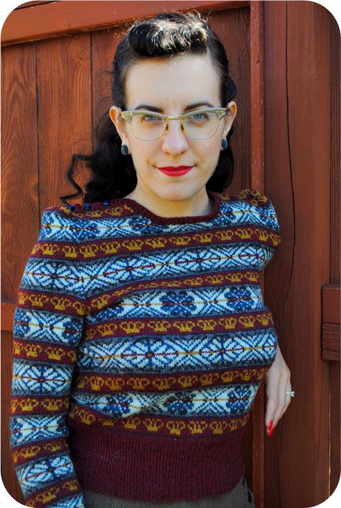 Red Queen fair isle pullover: finished! | fair isle and other ...
